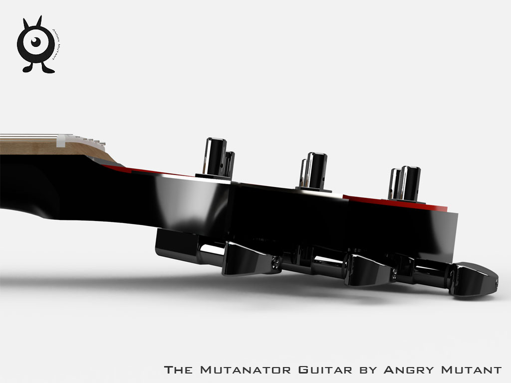 Guitar Headstock Rendering