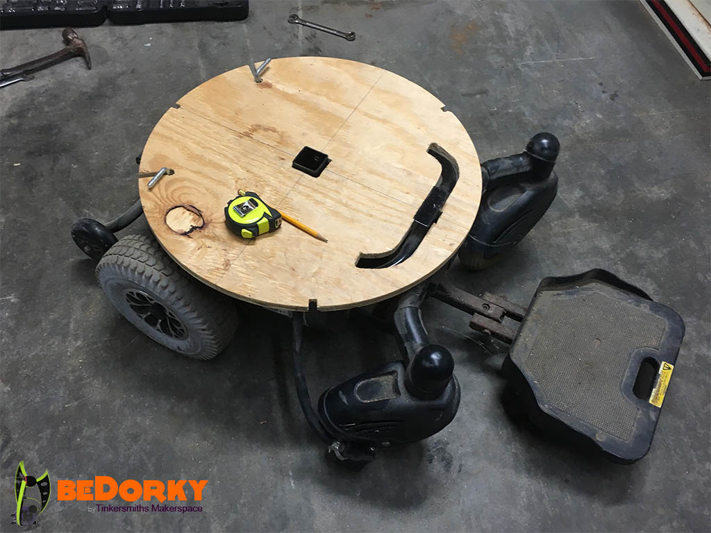 Dorkpod Floor to Drive Train Fitting in Charlottesville Virginia