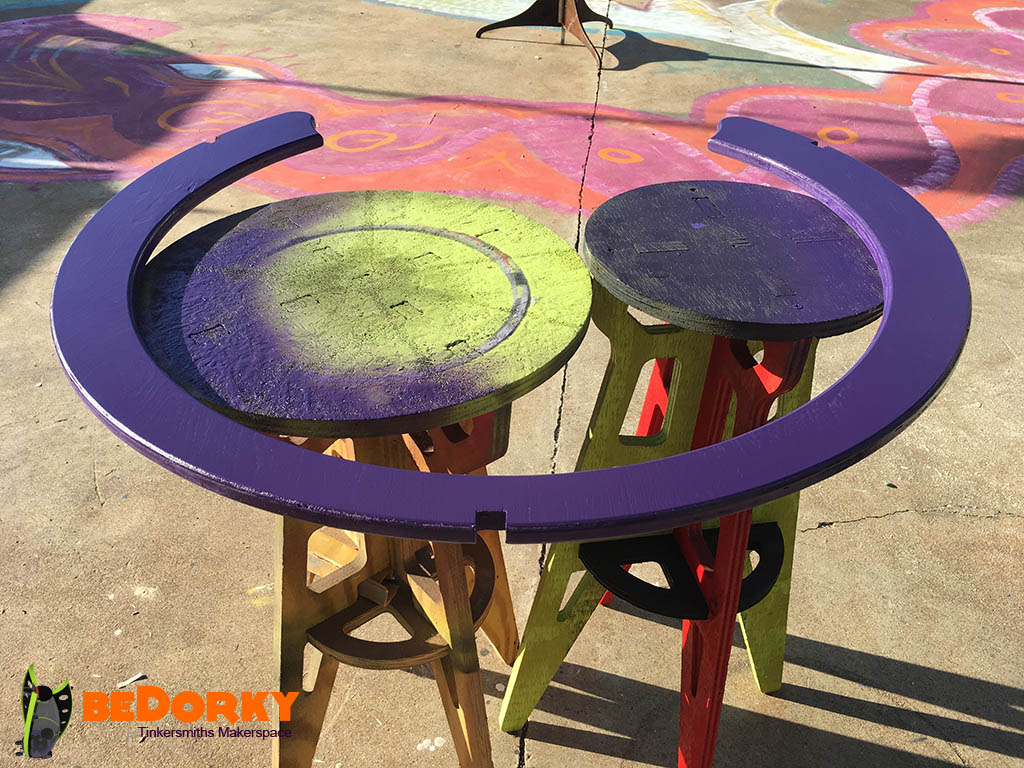 Dorkpod Guardrail ring Painting Purple