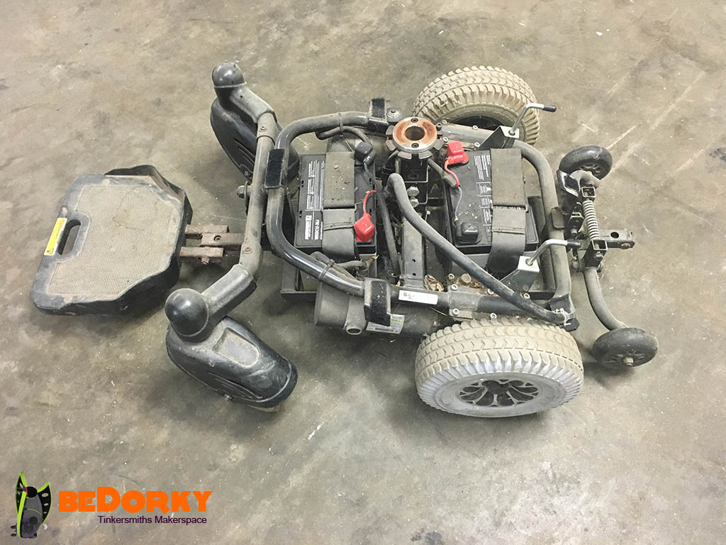 Used Electric Wheelchair Drivetrain Chassis