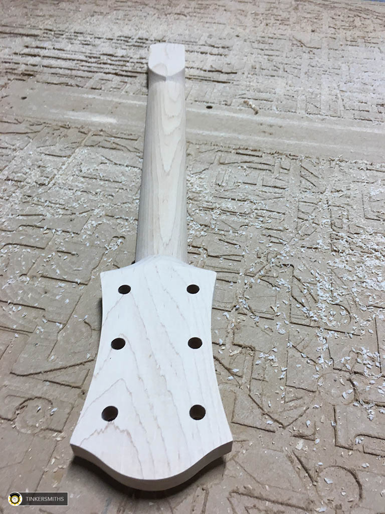 CNC Milled Guitar Neck